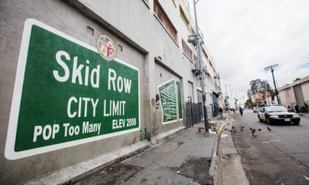 Skid Row in downtown Los Angeles.