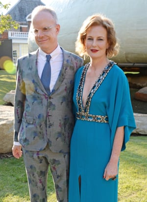 Obrist with co-director of the gallery Julia Peyton-Jones at the Serpentine gallery summer party, 2014.