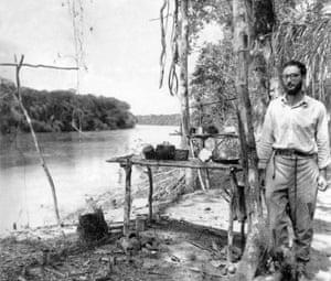 Claude Lévi-Strauss in the Amazon in Brazil c1936.
