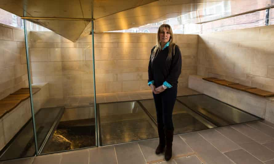 Philippa Langley at the Richard III visitor centre in Leicester.
