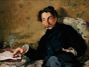 Portrait of Stephane Mallarmé by Édouard Manet, 1876.