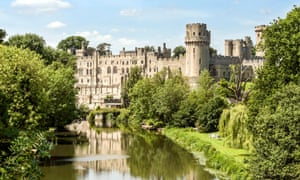 The medieval Warwick Castle.