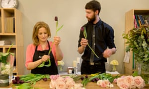 Harriet Green learns all about flower arranging at McQueens in Clerkenwell, London.