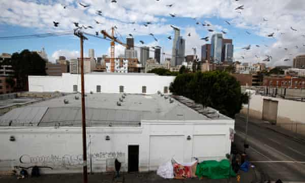 The Skid Row Housing Trust's 102 pre-fabricated modular apartments.