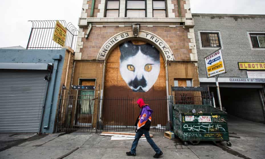 Street art in Skid Row, LA.