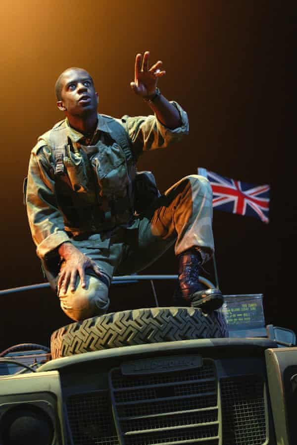 Adrian Lester in Henry V at the Olivier theatre, National Theatre.
