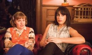 Desiree Akhavan with Lena Dunham in Girls