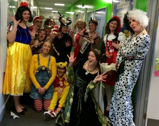 Classroom Ideas For World Book Day ~ World book day teachers get into costume in