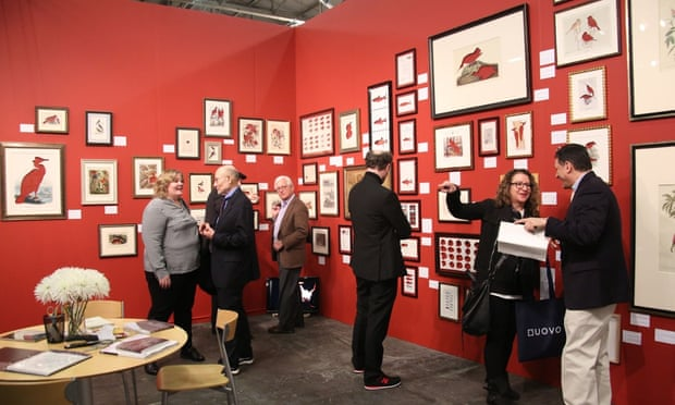Visitors at the Armory Show in New York.