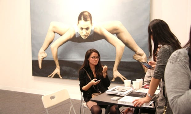 A deal is struck at the Armory show.