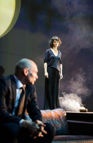 Patrick O'Kane and Juliette Binoche in Antigone.