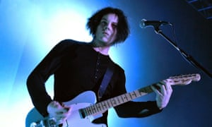 Jack White performing live.