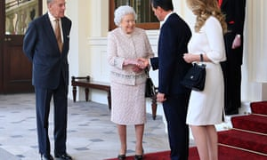 The Queen and the Duke of Edinburgh with Enrique Peña Nieto and his wife Angélica Rivera