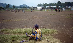A displaced Congolese woman in the Bulengo camp in eastern DRC