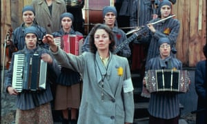 In our time … Jane Alexander conducts the orchestra in Playing for Time with Vanessa Redgrave (in grey jacket).