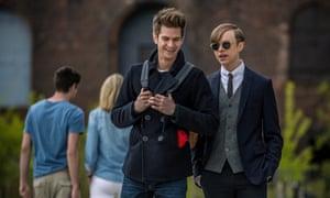 School days ... Andrew Garfield and Dane DeHaan in The Amazing Spider-Man 2