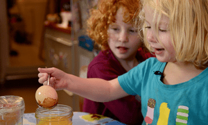 Children take part in learning science through fun activities