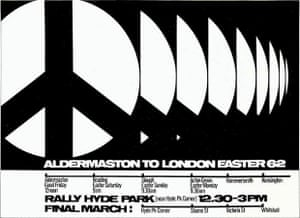 Ken Garland, poster for the Campaign for Nuclear Disarmament, 1962