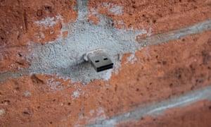 A USB Dead Drop.