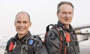 Bertrand Piccard and André Borschberg, the pilots of Solar Impulse 2