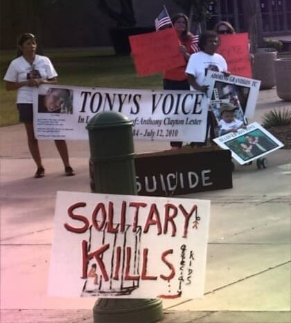 Protest for Tony Lester
