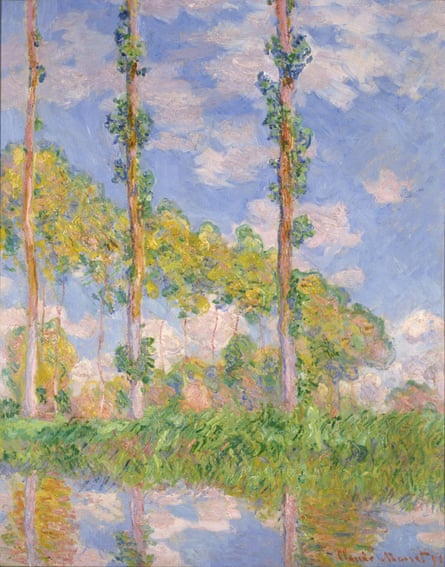 Poplars in the Sun, 1891 by Claude Monet.