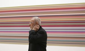 Gerhard Richter in front of one of his paintings at the Centre Pompidou, Paris, in June 2012.