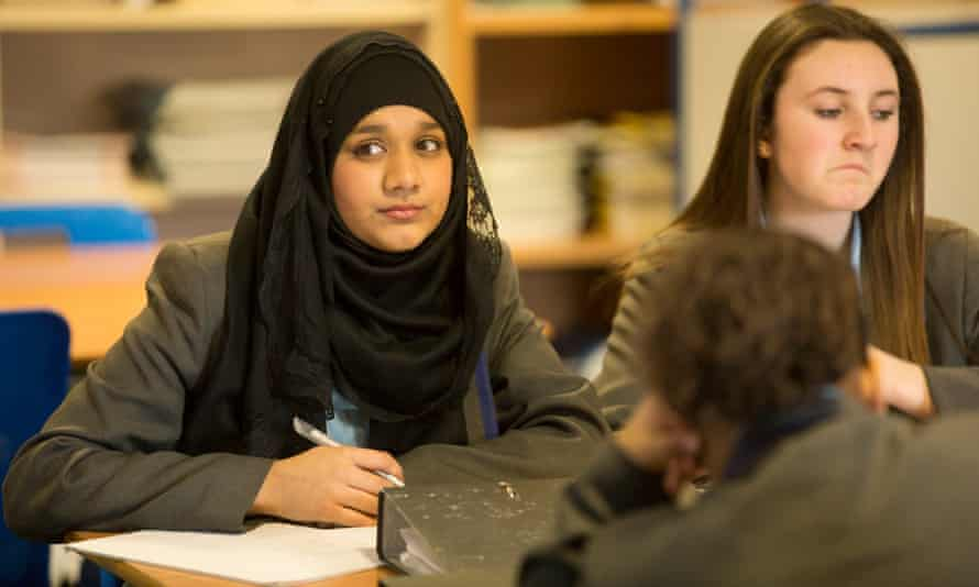 Students at Walthamstow academy in London.