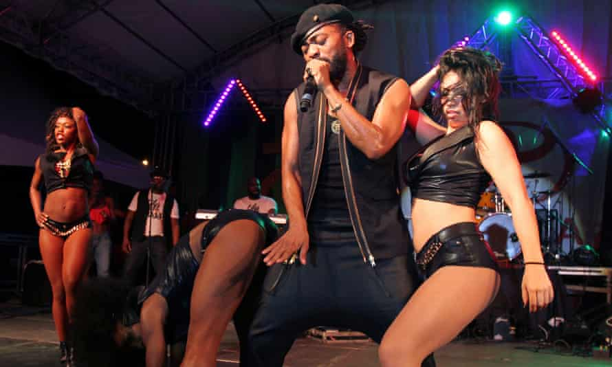 Machel Montano performing at the Trinidad and Tobago carnival in early February.