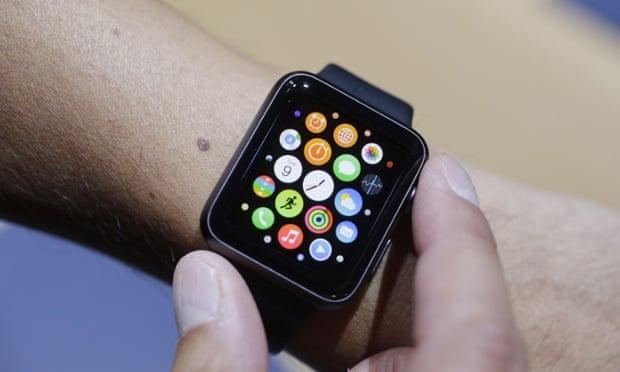 An Apple Watch on a wearer's wrist.