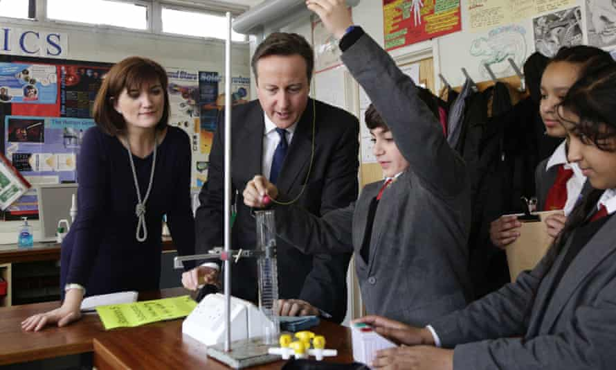 David Cameron and Nicky Morgan visit a London school in February.