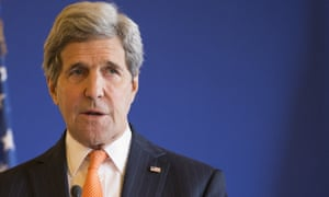 Secretary of State John Kerry speaks to the media during a news conference with French Foreign Minister Laurent Fabius.