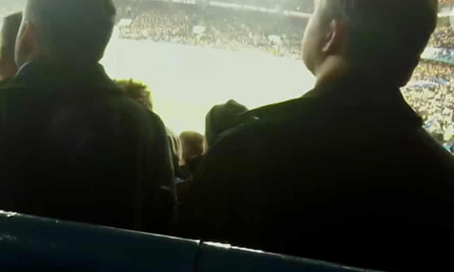 The view from the disabled fan's area at Stamford Bridge.