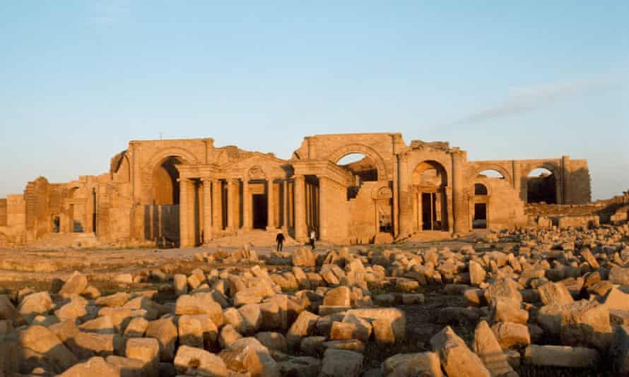 The remains of the ancient Parthian city of Hatra, a 2,000-year-old site in Northern Iraq which officials in Baghdad reports is being demolished by Islamic State.