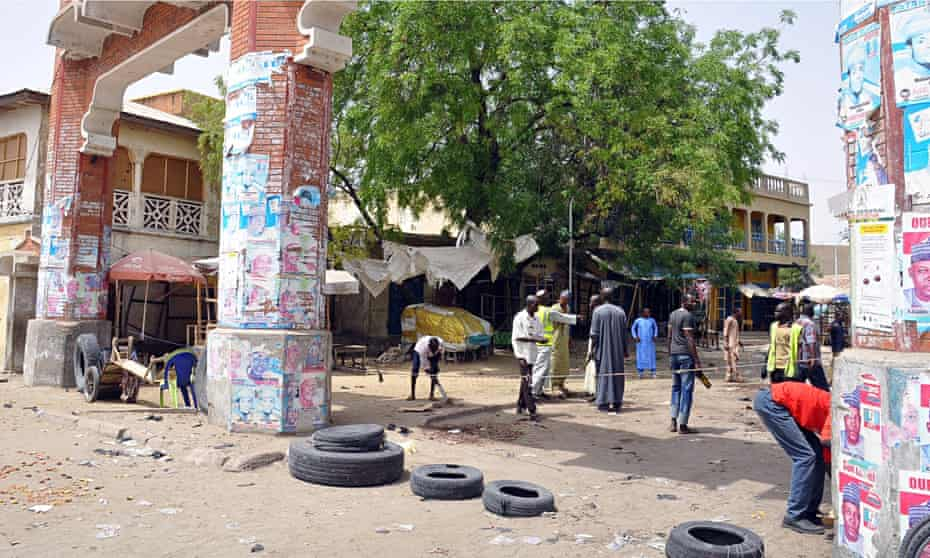 The main gate to the Monday Market, Maiduguri, where a suicide bomb attack took place on Saturday.