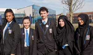 Pupils from the Petchey Academy in Hackney, London
