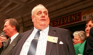 Cyril Smith at the 1990 Liberal Democract party conference in Blackpool.