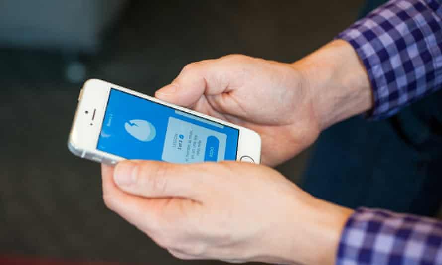 Luis von Ahn uses Duolingo on his iPhone.