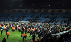 Villa pitch invasion