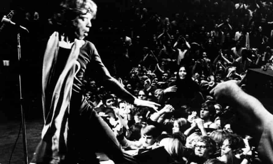 Mick Jagger in the documentary film Gimme Shelter, 1970.