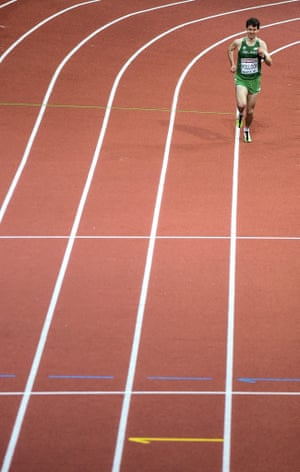 Ireland's Paul Pollock during his Men's 3,000m semi-Final event, where he finished in 10th position with a time of 7:58.78.