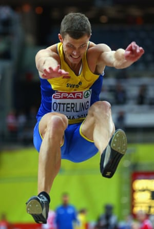 Andreas Otterling of Sweden competes in the Men's Long Jump Final.