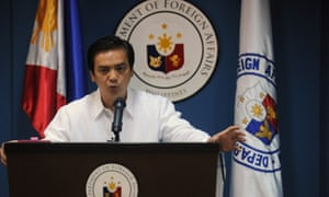 Charles Jose of the Philippines department of foreign affairs during a briefing in Manila on 9 March.