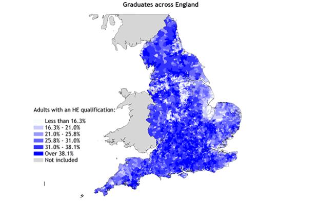 Graduates across England