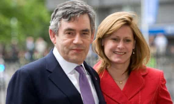 Gordon Brown in a purple tie