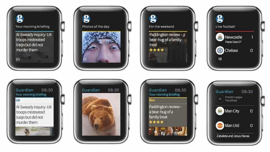 Example designs on Apple Watch