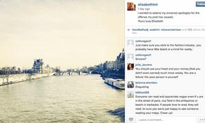 Elisabeth von Thurn und Taxis apologises over Instagram post