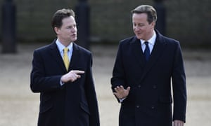 Nick Clegg said of David Cameron's party: 'They cannot have their cake and eat it.'