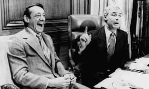Harvey Milk and Mayor George Moscone in April 1977