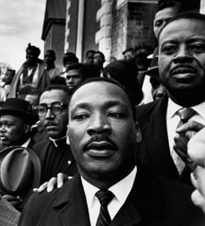 Martin Luther King was the master of non-violent strategy. Here he is pictured in Selma, Alabama, with Reverend Ralph Abernathy in 1965.